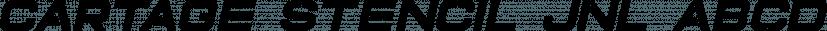 Cartage Stencil JNL font family by Jeff Levine Fonts