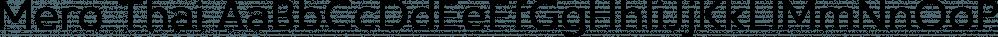 Mero Thai font family by Deltatype