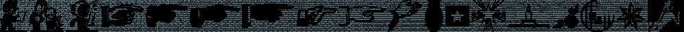 Letterpress Extras JNL font family by Jeff Levine Fonts