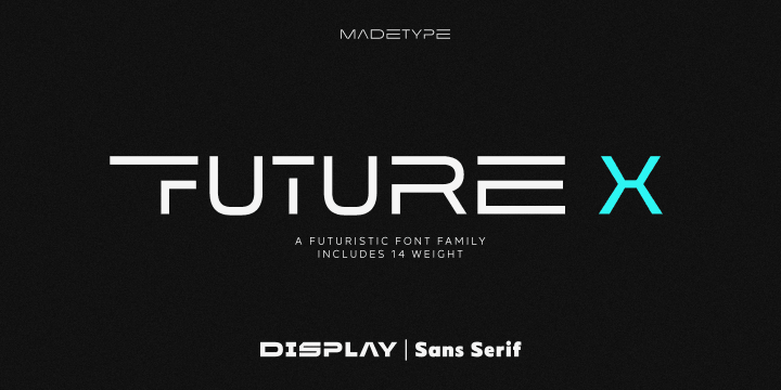 MADE Future X font family by MadeType
