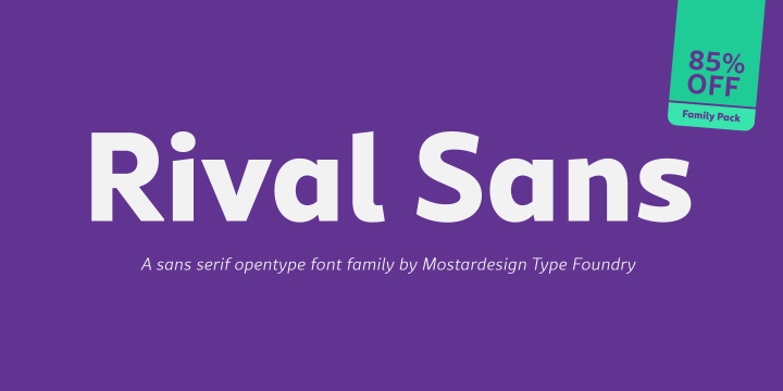 Rival Sans font family by Mostardesign