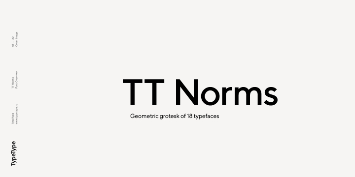 TT Norms font family by Typetype